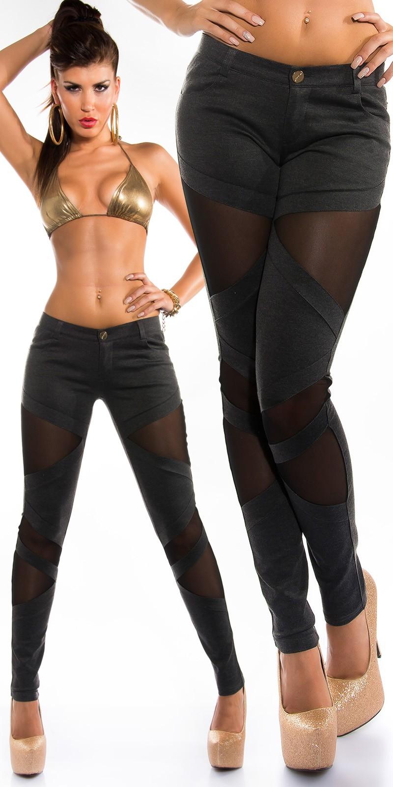 Fekete necc betétes női nadrág - antracit (XL) empty 98c99569fa
