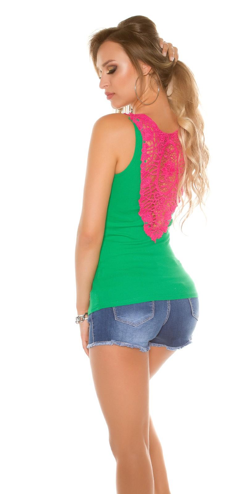12d99d56c8 Horgolt csipkés hátú női atléta, felső - Zöld (S/M) | Mysticfashion ...
