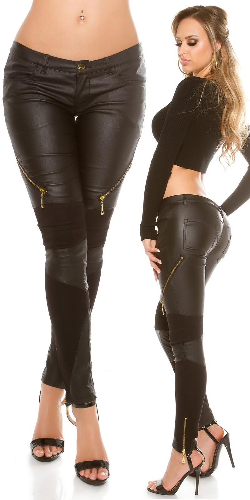 Bőrhatású női nadrág szövet betétekkel - (S-XL) Szállítási idő  5-10 nap c322b1988c