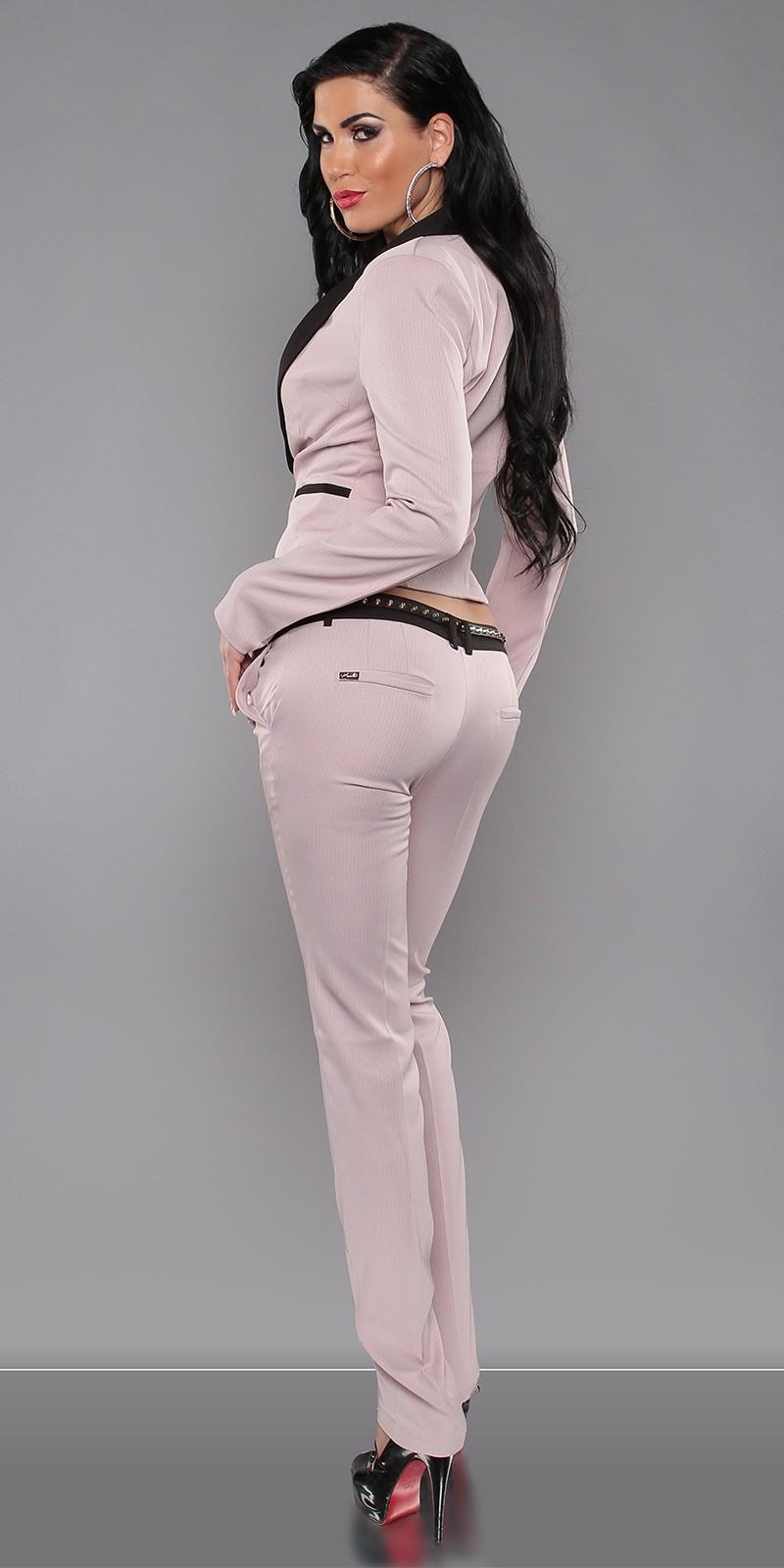Elegáns női kosztüm nadrág övvel - Mályva (40-42). Az Ön értékelése  a5acb66ef5
