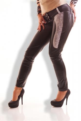 cedef0c071 SYL műbőr nadrág necc dísszel | Mysticfashion női ruha webáruház webshop