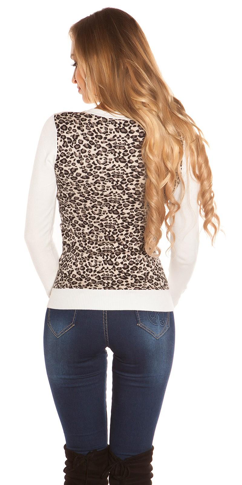 Leo hátú női pulóver - Fehér (S M) empty 3eb2b76c09