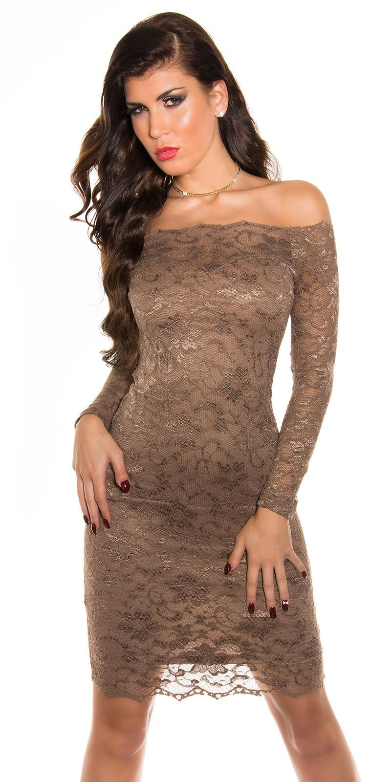 Csipke hosszú ujjú női ruha - Capuccino (38-40) empty 7a4b205f7d