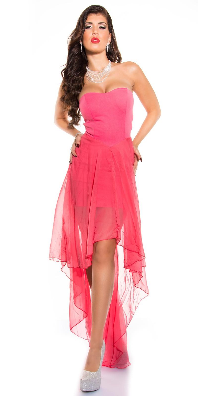 5cd609edae Muszlin szoknyás elöl rövid hátul hosszú női alkalmi ruha - Korall (S/M,.  Az Ön értékelése: