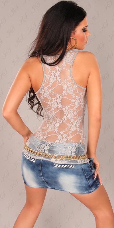 40f469c36a Szexy atlétatop csipke háttal - szürke | Mysticfashion női ruha ...