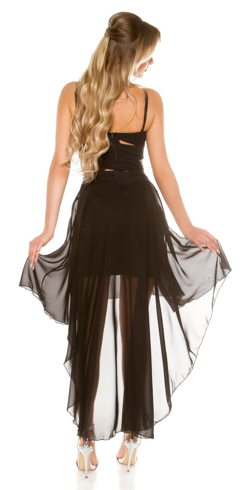 30f0cbcb6c Elöl rövid-hátul hosszú muszlin szoknyás alkalmi ruha - Fekete (S/M,. Az Ön  értékelése: