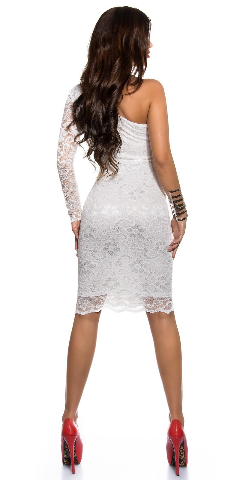 c51a534eec Csipkés félvállas női alkalmi ruha miniruha - Fehér (36-44). Az Ön  értékelése: