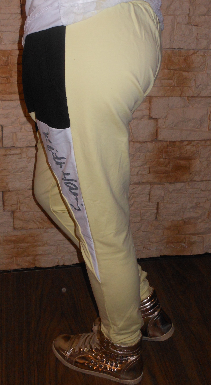 Többszínű laza sportos ülepes női nadrág - Sárga S M. Az Ön értékelése  00c4a0c04a