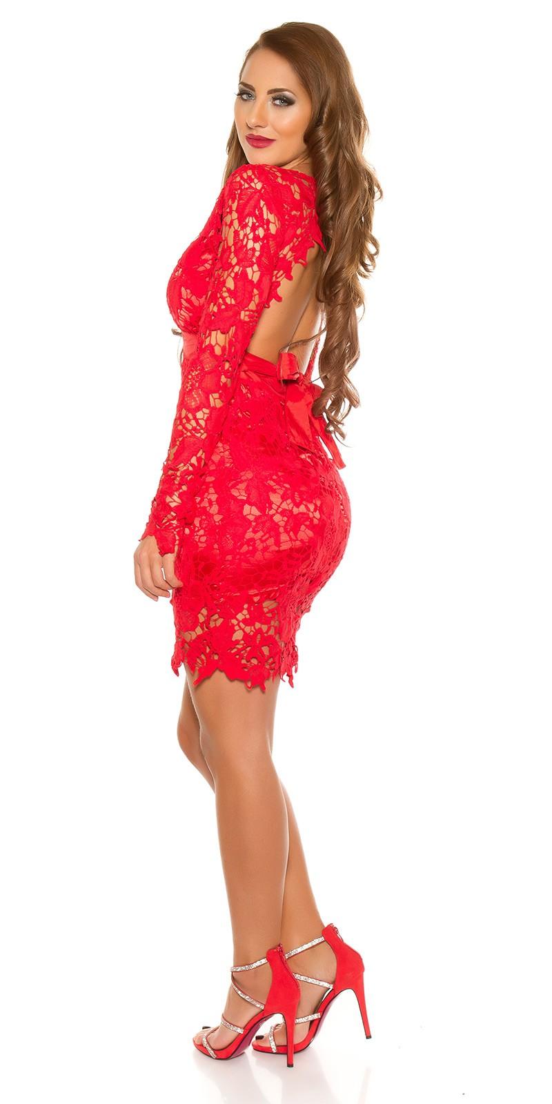 94d89ae696 NŐI RUHA | Csipkés női party ruha - Piros (XS-L) | Mysticfashion női ...