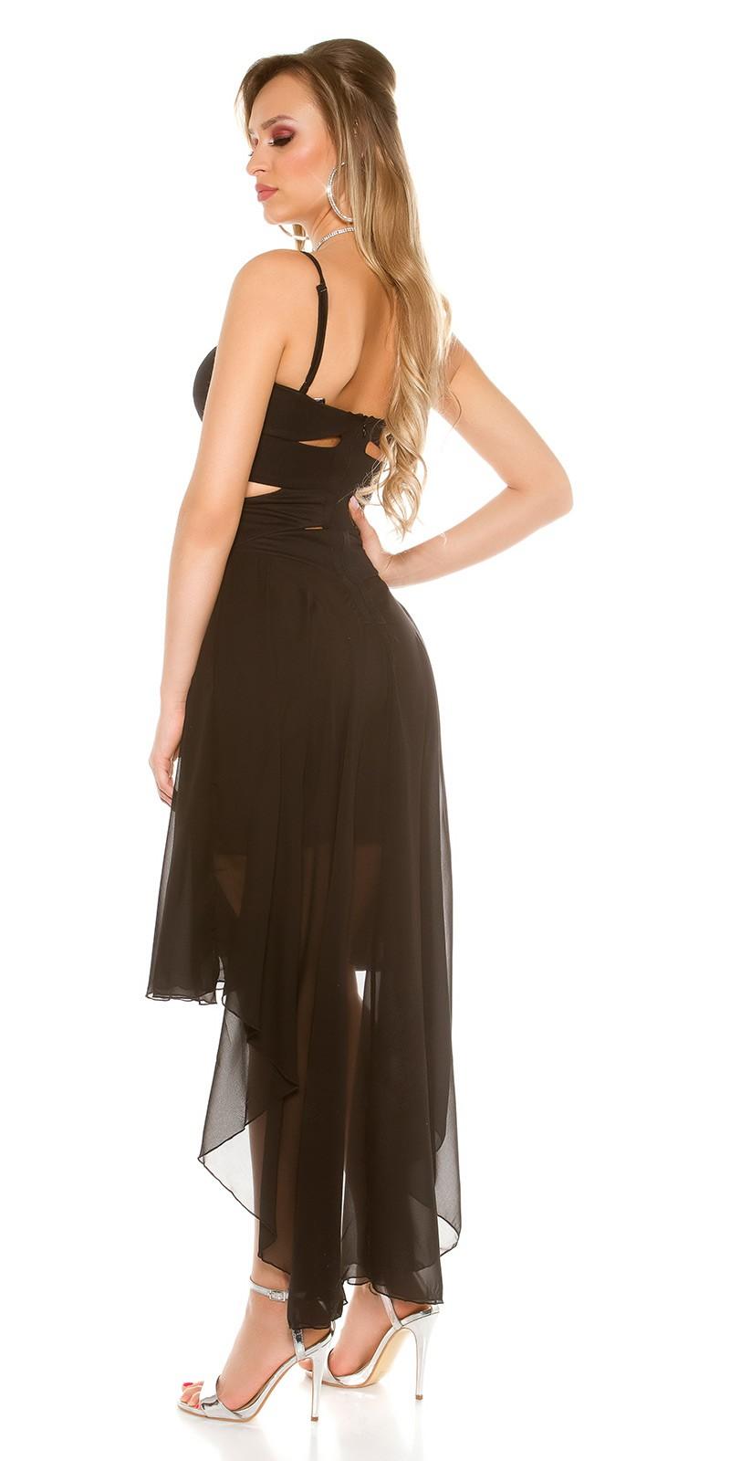 6ea981d024 Elöl rövid-hátul hosszú muszlin szoknyás alkalmi ruha - Fekete (S/M,. Az Ön  értékelése: