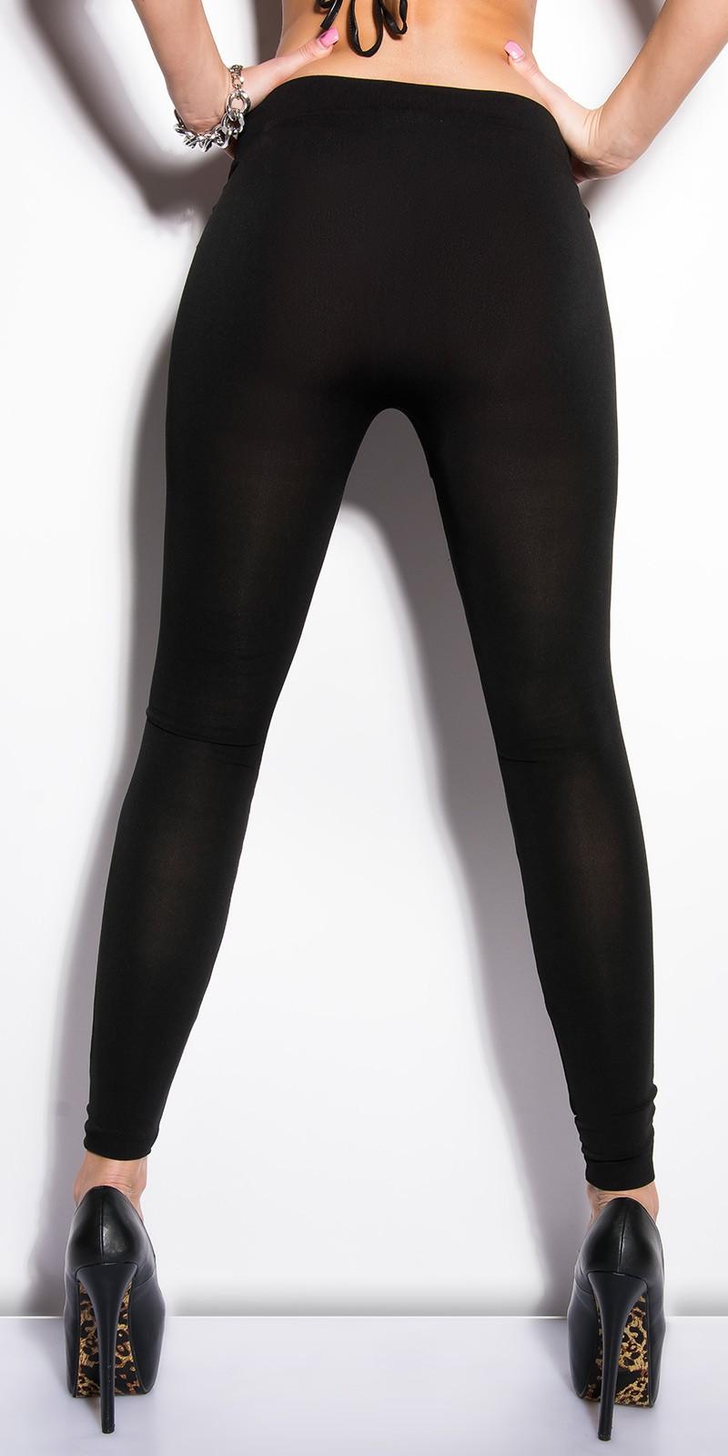 6134a62872 Fekete leggings katonai mintás betétekkel - (S/M) | Mysticfashion ...