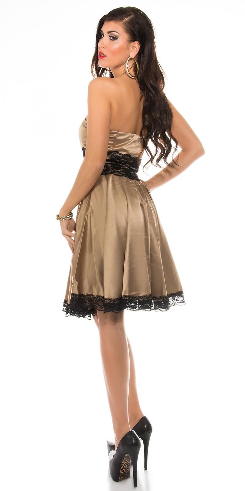 f5ec4735c1 Fekete csipke rátétes alkalmi ruha - Pezsgő (36-42). Az Ön értékelése: