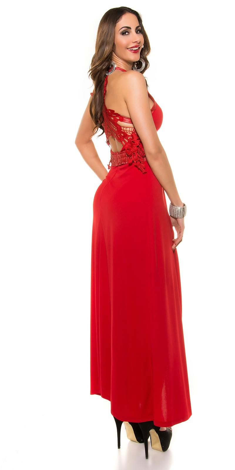 Hátán horgolt csipkés női alkalmi ruha - Piros (S-L). Az Ön értékelése  5b689a1172