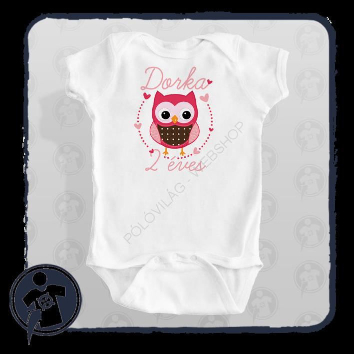 a48fc21b20 Gyerekeknek - babáknak | Baglyos szülinapos bababody/póló névvel ...