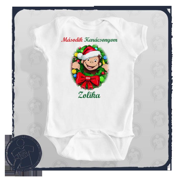8e5e38204b George majom karácsonyi body póló felirattal - saját névvel empty
