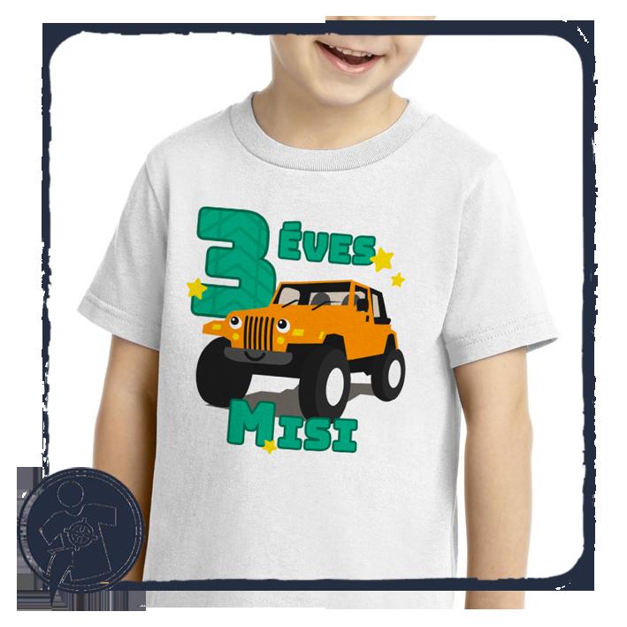 Terepjárós szülinapi bababody póló saját névvel empty f30c01fe43
