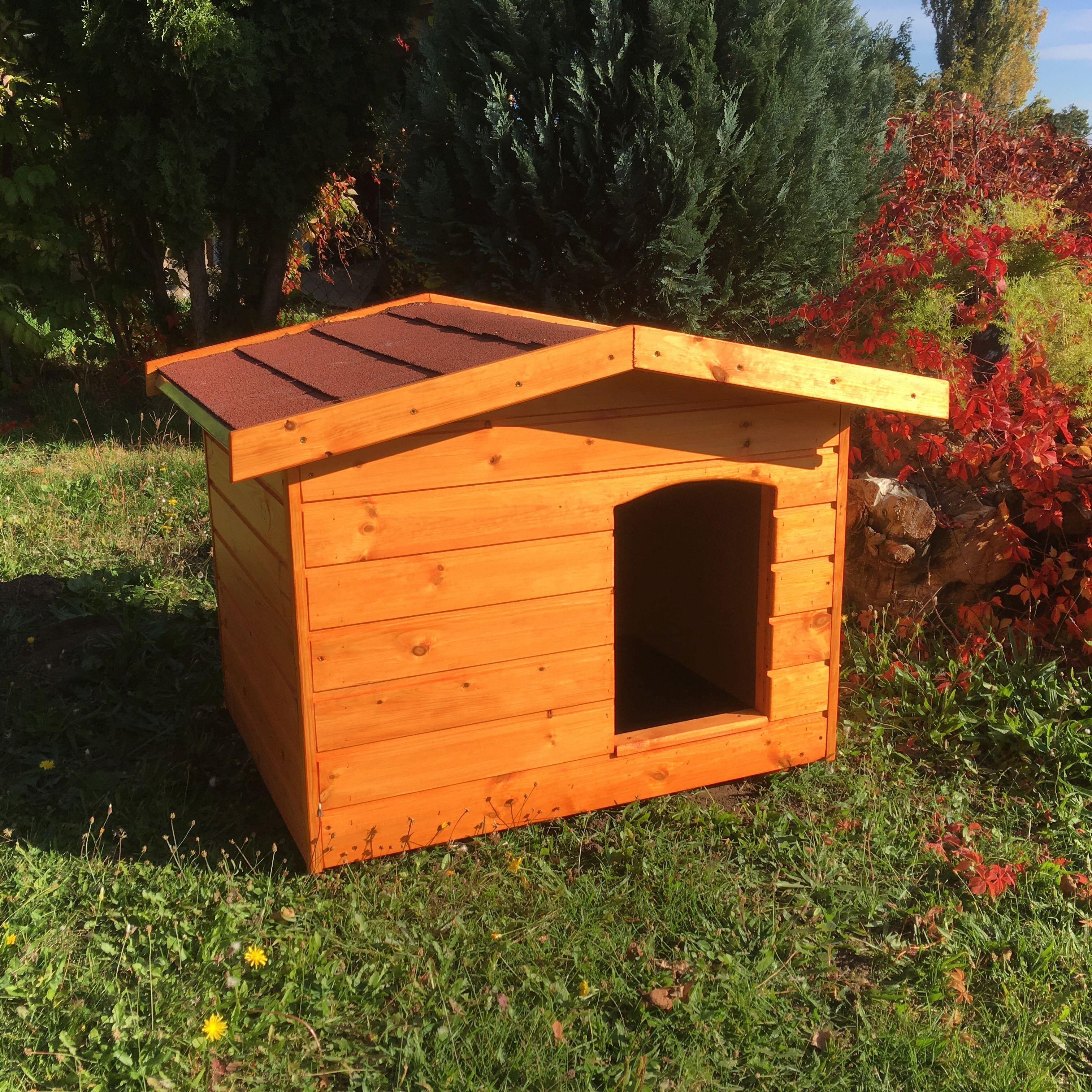 dd7a4e6904e9 Extra hőszigetelt 70X90 kutyaház fordított amerikai tetős cseresznye