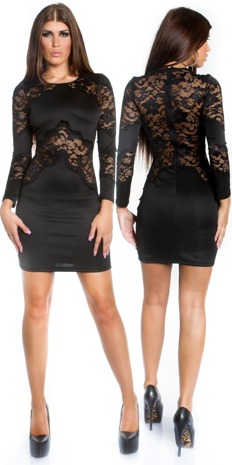 Szexy fekete csipke ruha - (S-L) empty 3007fc2339