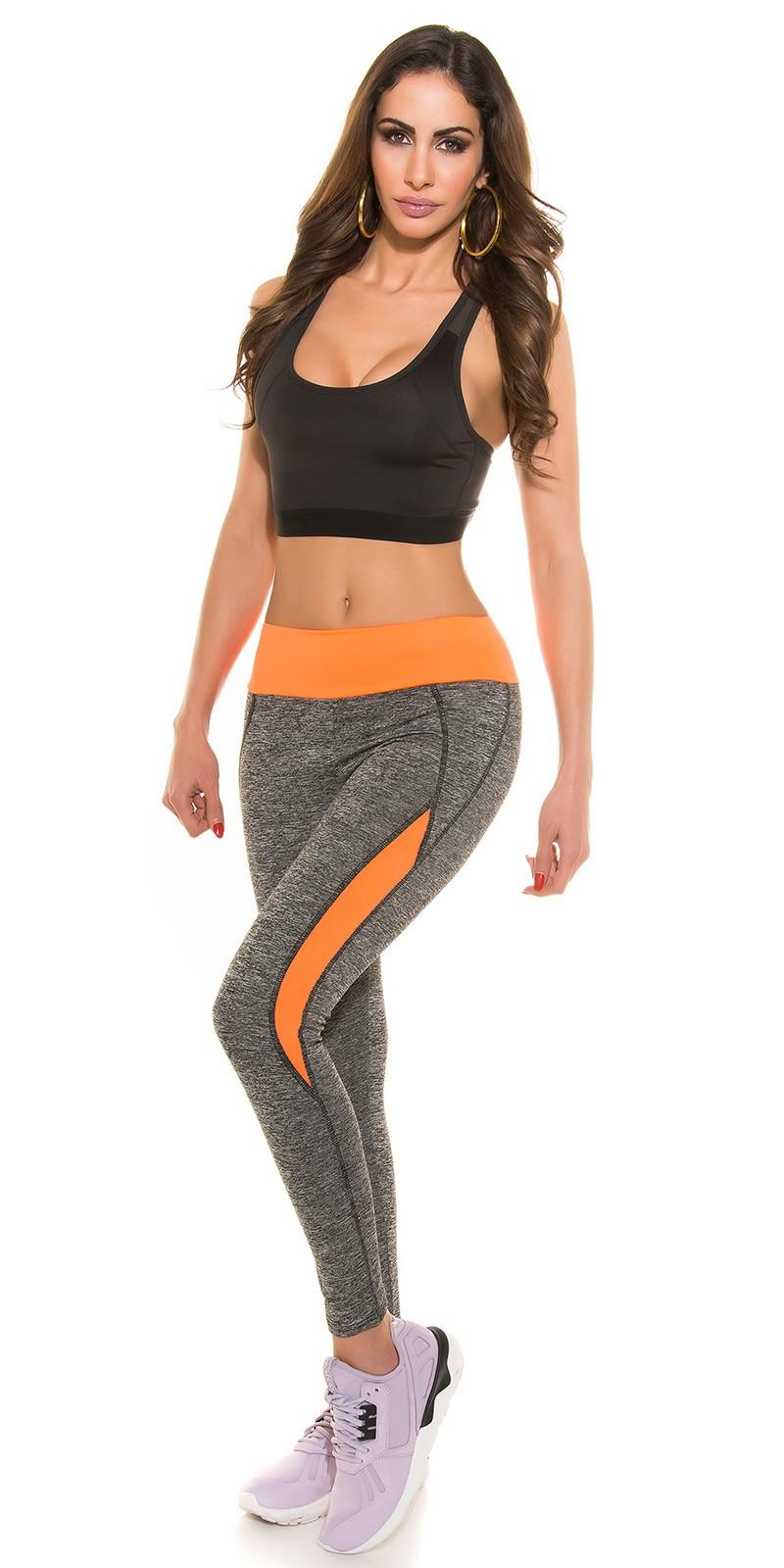 a17bc3102a NŐI RUHA | Két színű fitness leggings - Neonnarancs (XL/XXL ...